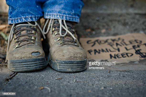 Homeless Man's Shoes