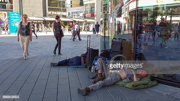 homeless people in the streets of Berlin - Germany