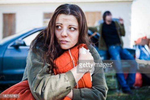 ホームレスの女性