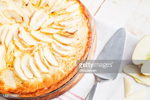 homemade apple pie cake : Stock Photo