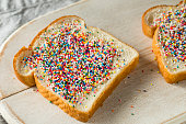 Homemade Australian Fairy Bread with Sprinkles and Butter