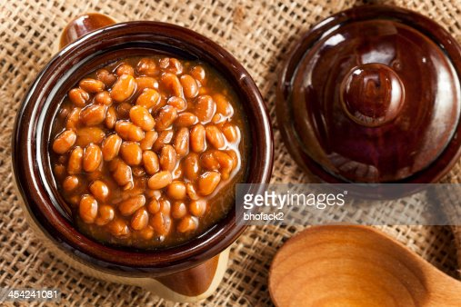 Homemade Barbecue Baked Beans : Stock Photo