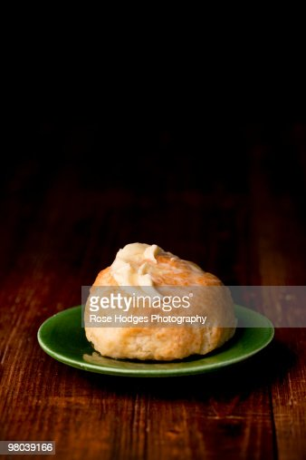 Homemade biscuit and real butter : Stock Photo