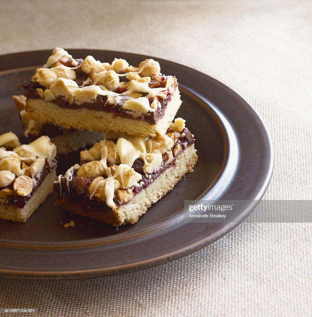 Homemade cake on plate : Stock Photo