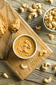 Homemade Cashew Peanut Butter Ready to Eat