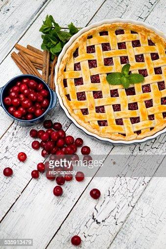 Tarta de cerezas casero : Foto de stock