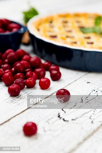 Homemade cherry pie : Stock Photo