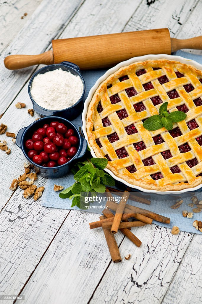 Homemade cherry pie : Stock Photo