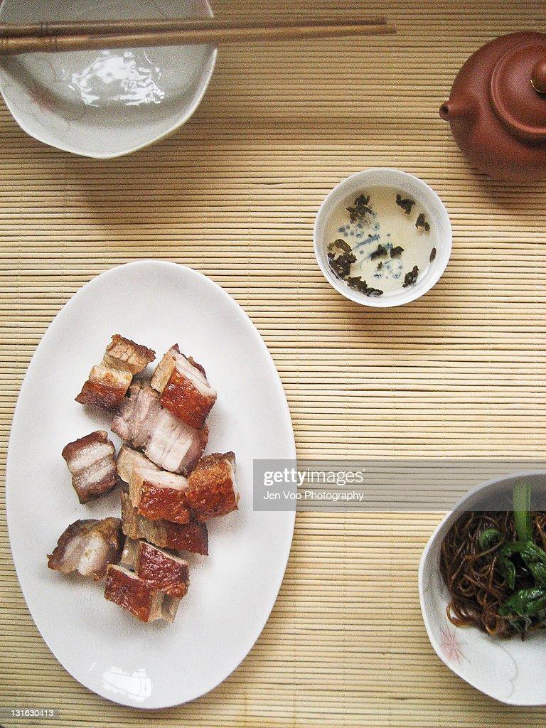 Homemade Chinese roast pork : Stock Photo