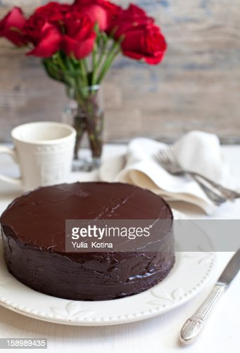 Homemade chocolate cake : Stock Photo