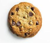 Homemade Cookie on white, overhead, XXXL