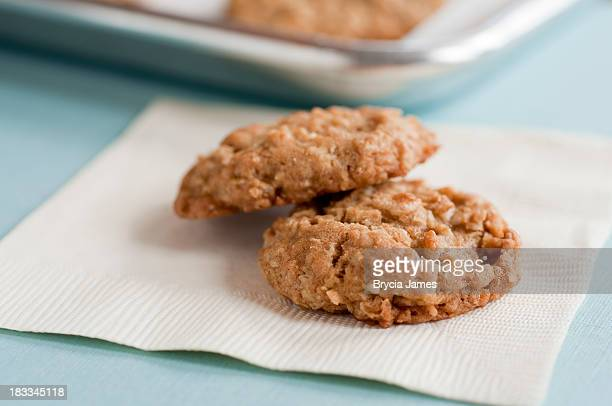 Homemade Cookies on a Napkin Horizontal