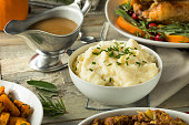 Homemade Creamy Whipped Mashed Potatoes with Chives