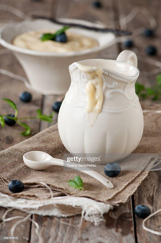 Homemade custard : Stock Photo