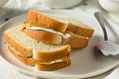 Homemade Fluffernutter Marshmallow Peanut Butter Sandwich for Kids