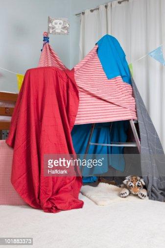A homemade fort