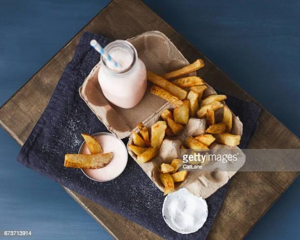 Maison français fries et milkshake