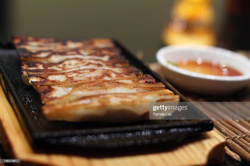 Homemade gyoza : Stock Photo