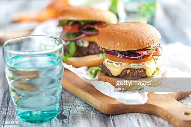 Hausgemachten Hamburgern