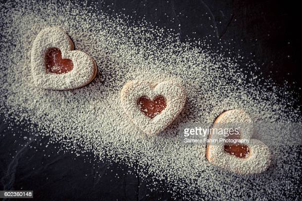 Homemade Heart shortbreads
