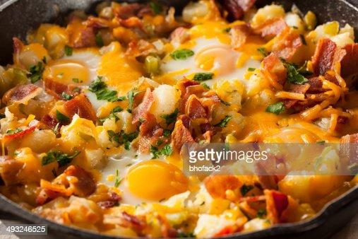 Homemade Hearty Breakfast Skillet : Stock Photo