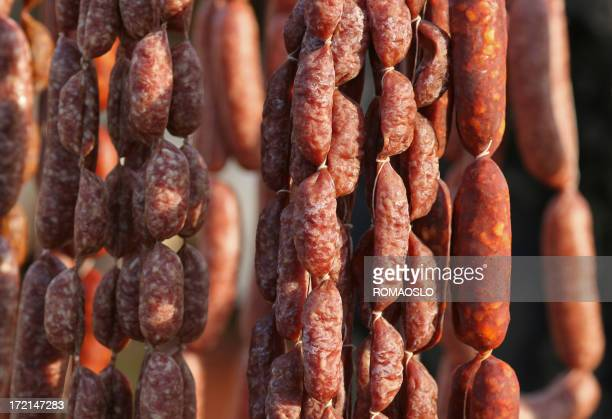 Homemade Italian sausages, Italy