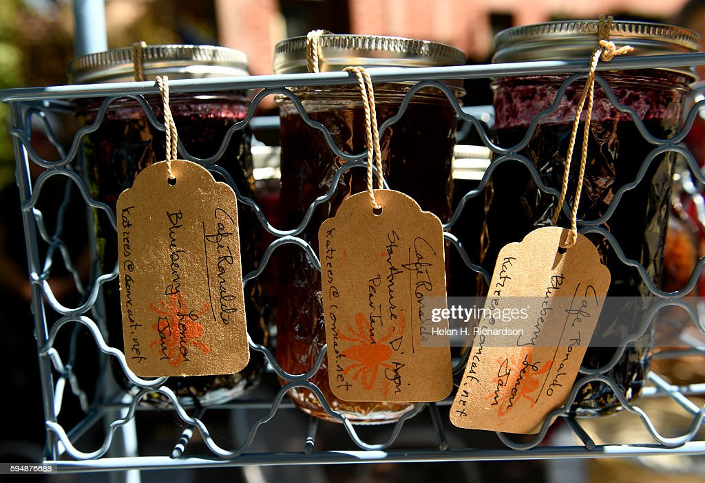 Homemade jams created by Joanne Katz are for sale at the neighborhood's Pop Up Farm stand at the intersection of East 7th Avenue and Bellaire street...