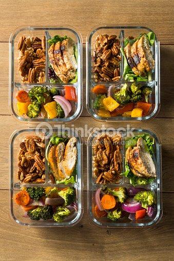 Homemade Keto Chicken Meal Prep : Stock Photo