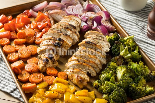 Homemade Keto Sheet Pan Chicken : Stock Photo