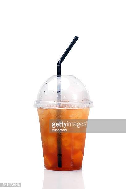 Homemade lemonade peach tea