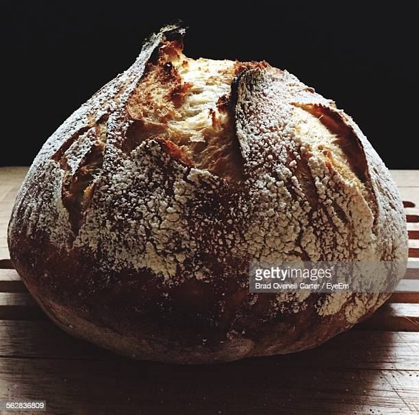 Homemade Loaf Of Bread On Table