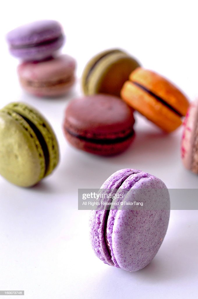 Homemade macarons : Stock Photo