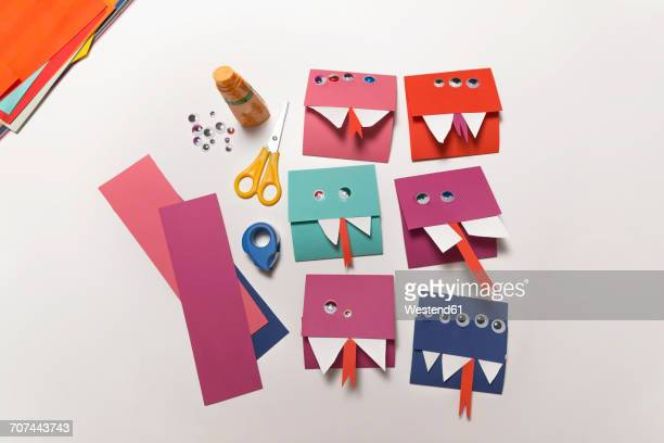 Home-made monster invitation cards