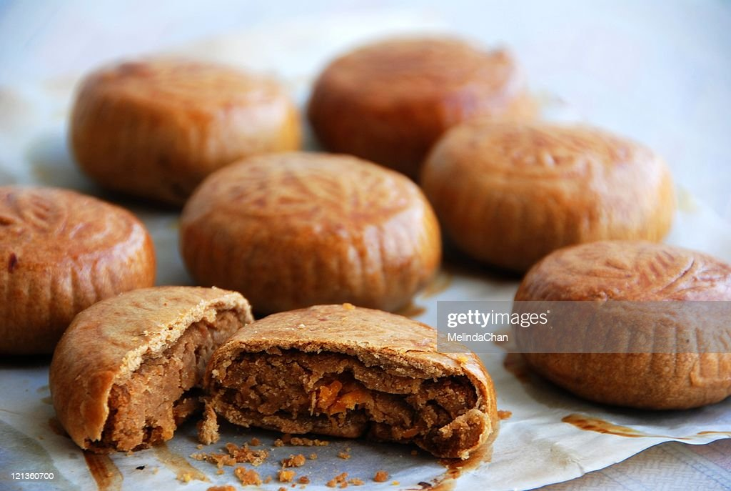 Homemade mooncakes : Stock Photo