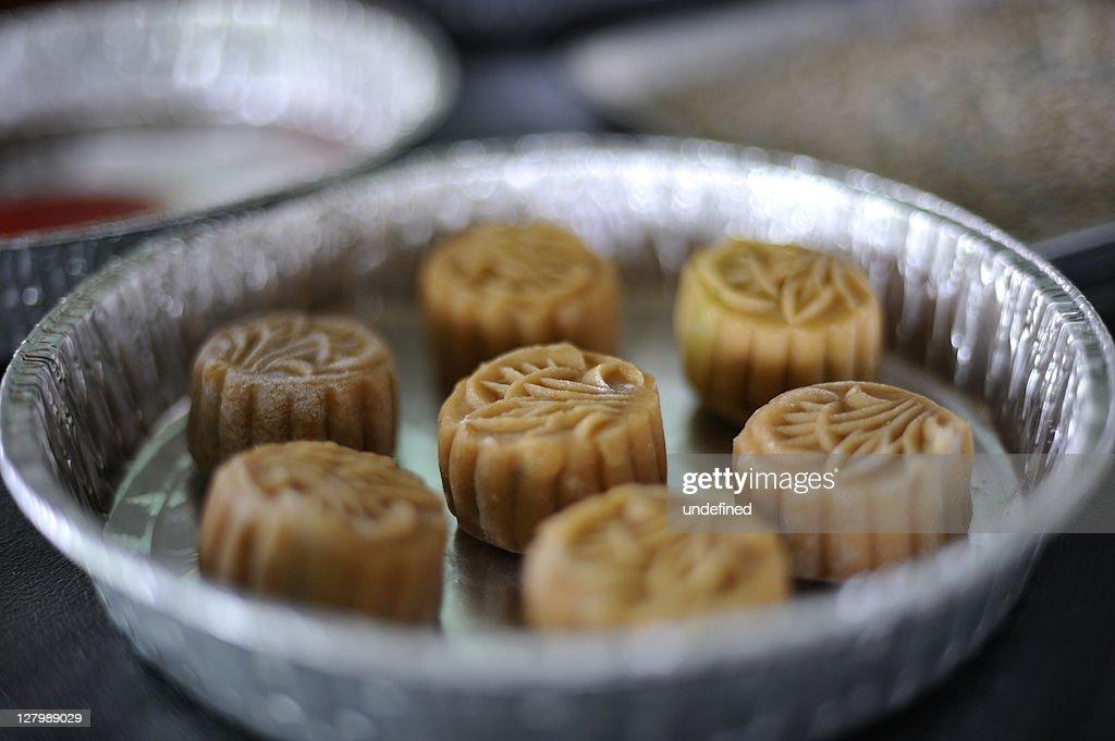 Homemade mooncakes : Stock Photo