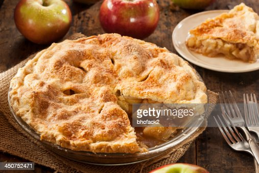 Homemade Organic Apple Pie Dessert : Stock Photo