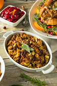 Homemade Organic Thanksgiving Stuffing with Sage Herbs