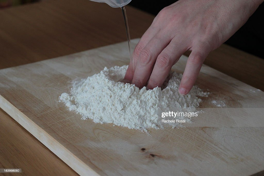 Home-made pasta - step 1/3 : Stock Photo