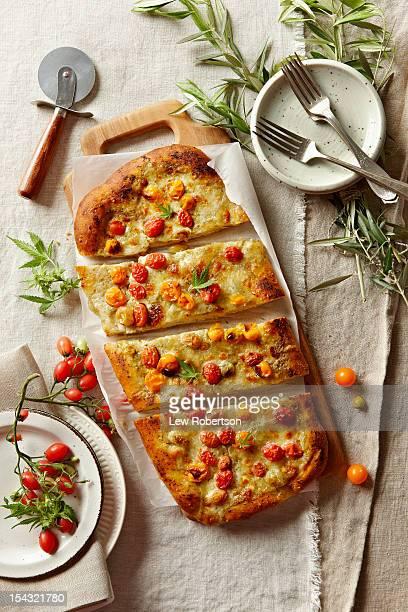 Homemade pizza with marijuana