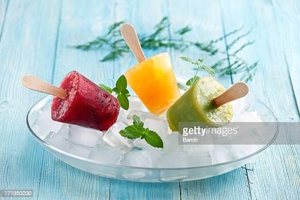 Hausgemachte Eis am Stiel