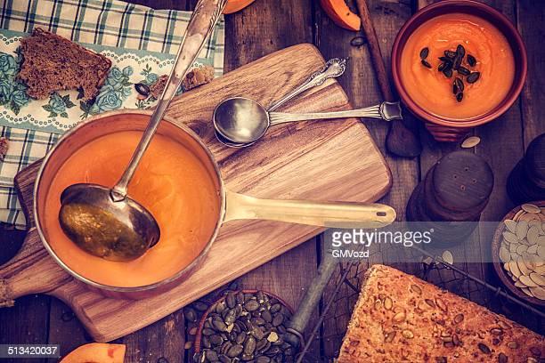 Homemade Pumpkin Soup for Autumn Days