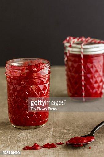 Homemade Raspberry Jam.