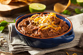 Homemade Refried Pinto Beans with Chiips and Lime