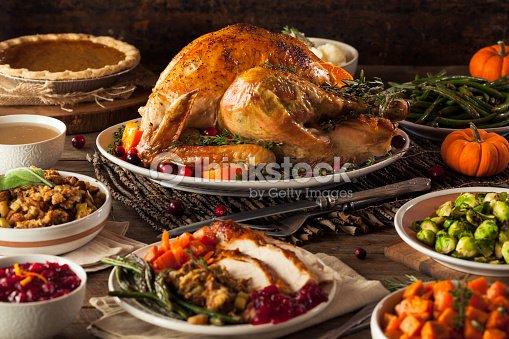 Casa del giorno del ringraziamento turchia arrosto foto - Ringraziamento tacchino al colore ...