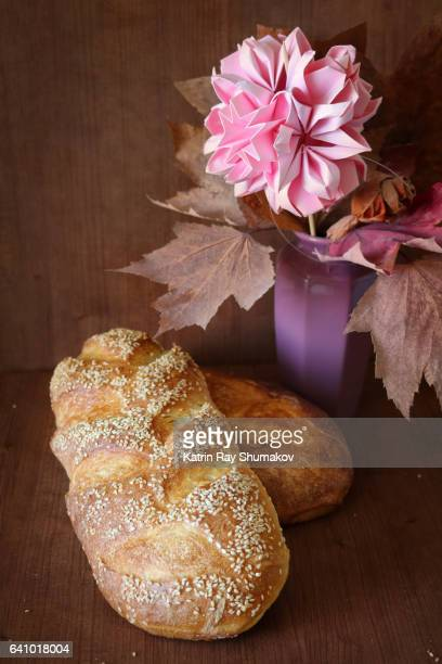 Homemade Rustic French Breads. Still Life