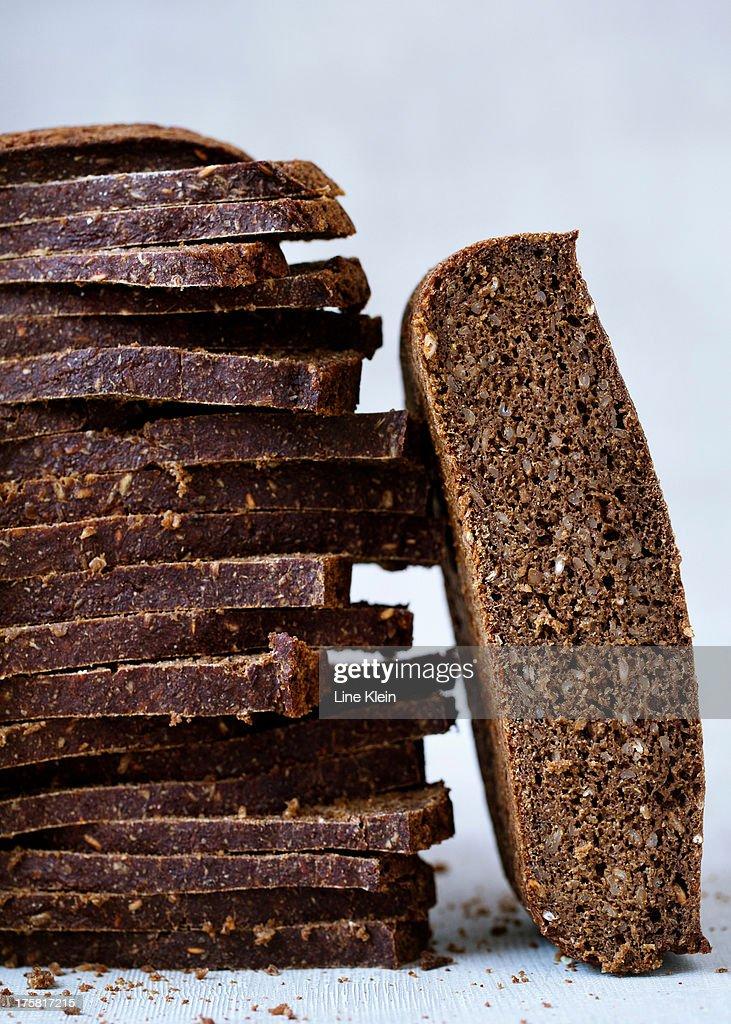 Homemade ryebread : Stock Photo