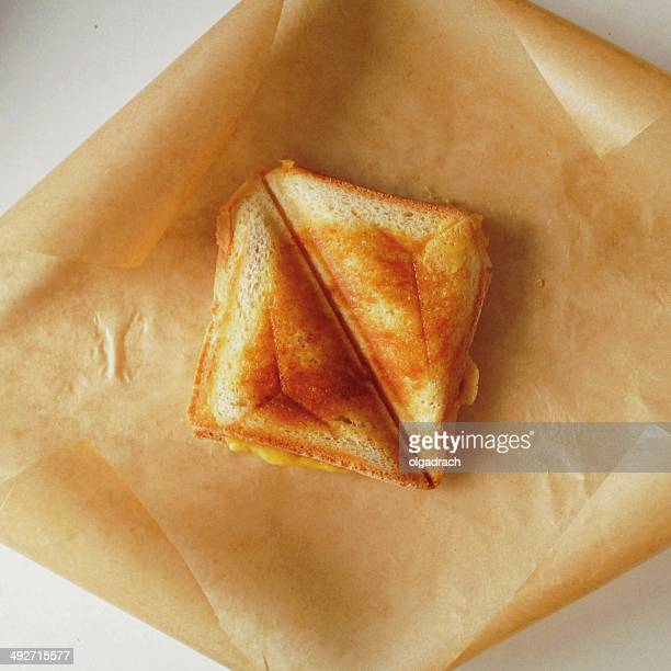 Homemade toasted cheese sandwich