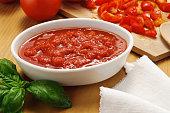 Tomato sauce - setting