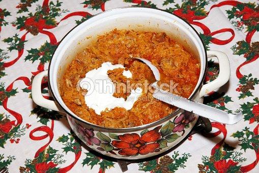 Hungarian Christmas Traditions.Homemade Traditional Hungarian Christmas Food Name Is