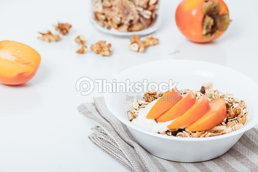 Homemade vegan granola cereal with soy yogurt walnuts fuji app stock homemade vegan granola cereal with soy yogurt walnuts fuji app stock photo ccuart Image collections